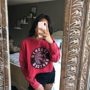Toronto Raptors cropped sweater